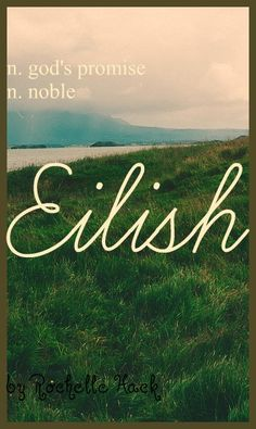 Baby Girl Name: Eilish (AY-lish). Meaning: Noble; God's Promise. Origin: Irish; Gaelic. https://www.pinterest.com/vintagedaydream/baby-names/