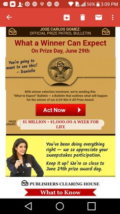 Publishers clearing house i jose carlos gomez claim prize day promotion card bulletin id code PCH-AAA for activation and to win it. Lotto Winning Numbers, Winning Lotto, Lottery Winner, Instant Win Sweepstakes, Online Sweepstakes, Win For Life, Winner Announcement, Congratulations To You, Publisher Clearing House