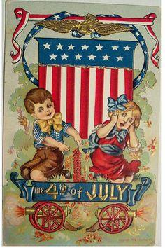Vintage Fourth of July postcard