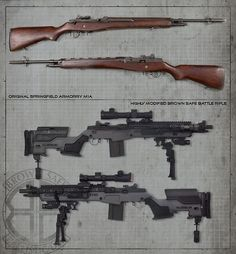 Brown Safe M1A Socom II – Custom Battle Rifle for Extreme Engagements