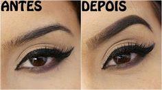 Como fazer o desenho da Sobrancelhas perfeitas | Ombre How To Make Eyebrows, Eyeshadow, Make Up, Youtube, Beauty, Amanda Domenico, Dramas, Chanel, Internet
