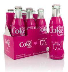 Retailer Holt Renfrew Celebrates Anniversary with a Signature Pink Diet Coke Bottle Coca Cola Bottles, Hot Sauce Bottles, Coke Cans, Pink Love, Pretty In Pink, Hot Pink, Bright Pink, Portfolio Webdesign, Sodas