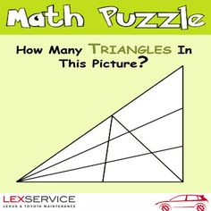 How many triangles in this picture Can you Answer this?