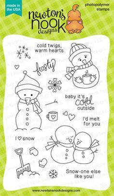 Frozen Friends Stamp Set by Newton's Nook Designs $14.99 http://www.newtonsnookdesigns.com/frozen-friends/