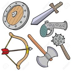 3912979-Weapons-collection-vector-illustration--Stock-Vector-medieval.jpg (1300×1292)