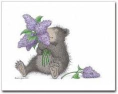8 Blank Cards/8 Envs - NKR1050B - This product is from artist Ellen Jareckie's line of whimsical bears, The Gruffies®️. You can click on the image to go to a wonderful gallery of products it is currently available on.