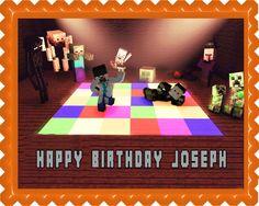 Edible Cake Image (ECI) - Minecraft Disco Edible Birthday Cake Topper OR Cupcake Topper, Decor, $7.95 (http://www.ecakeimage.com/minecraft-disco-edible-birthday-cake-topper-or-cupcake-topper-decor/)