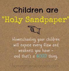 Children & Sandpaper