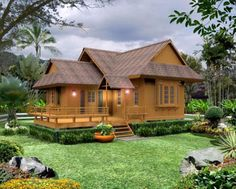 Photos Of Beautiful Wooden House Structure Design House Structure Design, Bamboo House Design, Thai House, Style At Home, Home Interior Design, Interior And Exterior, Exterior Design, Fixer Upper House, Wooden House