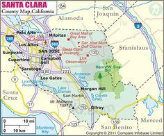 Santa Clara County Map