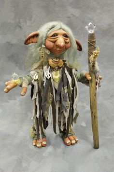 So Cute Swizzle Bug Troll, OOAK Artists Doll Collectible with lady ...