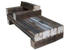 Piet Hein Eek chunky outdoor bench/chair