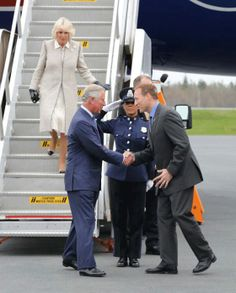 The Prince of Wales and The Duchess of Cornwall have arrived in Canada at the beginning of their three-day visit to Nova Scotia, Prince Edward Island and Manitoba.  May 18, 2014.