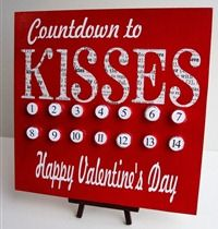 Kiss Countdown Board with Downloads to cut vinyl for Easter, Halloween, Christmas, St. Patty's Day, and Summer!