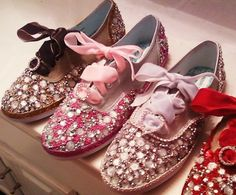 bedazzled shoes by QueenBeeBling on Etsy, $140.00