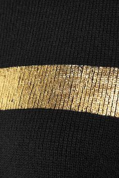 Gold | ゴールド | Gōrudo | Gylden | Oro | Metal | Metallic | Shape | Texture | Form | Composition |  Jil Sander | Metallic printed cashmere-blend sweater | NET-A-PORTER.COM