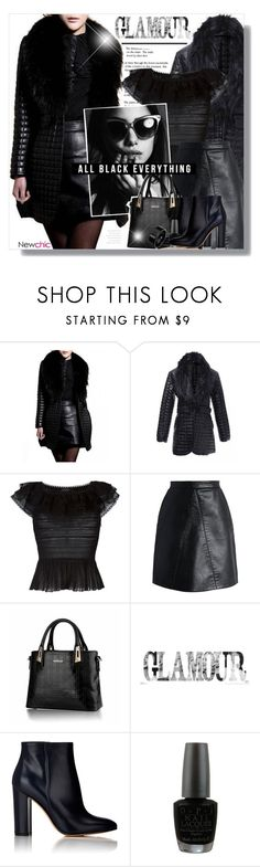 """""""~All Black Everything~"""" by amethyst0818 ❤ liked on Polyvore featuring Alexander McQueen, Chicwish, Gianvito Rossi, OPI and Chanel"""