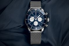 The Breitling Superocean Heritage II B01 Chronograph 44 (Ref. AB01621C1A1) is an outstanding chronograph with a sporty appearance and takes on any challenge. Breitling Superocean Heritage, Breitling Watches, Chronograph, Challenge, Sporty, Steel, Luxury, Accessories, Steel Grades