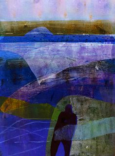 Barbara Rae West Highland Way Abstract Landscape, Landscape Paintings, Abstract Art, Landscape Design, Art And Illustration, Collage, Barbara Rae, Gelli Arts, Gravure