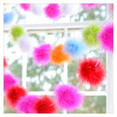 Maribou Puff Garland  Perfect for any day celebrations!  Ships Worldwide by www.TheShoppingBagStore.com