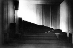 Gluck's Orpheus and Eurydice: the descent into hell, Hellerau, 1912. Stage Design by Adolphe Appia