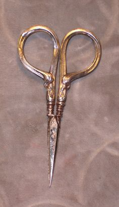 Antique Sterling Sewing Scissors