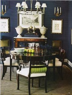 It's official I need a Navy Dining Room.