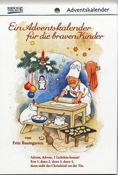 Cosy Winter, Winter Art, Christmas Scenes, Christmas Images, German Advent Calendar, Advent Calendars, Cross Stitch Family, Baumgarten, Label Paper