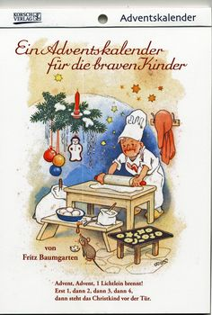 Adventskalender für die braven Kinder Nostalgischer Kalender Fritz Baumgarten   eBay