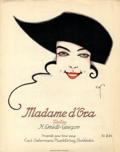 Madame d'Ora, 1920 (ill.: W.S.G. (monogram)); illustrated by W.S.G. (monogram) [W. Smidt-Gregor]