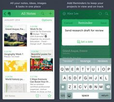 Evernote is your online notebook for everything.