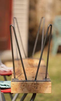 DIY hairpin legs bench