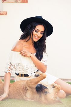 """I try and have conversations with fans on Twitter [during Pretty Little Liars]. I'll do 'Play with Shay,' when the episode is airing."" http://www.thecoveteur.com/shay-mitchell-style/"