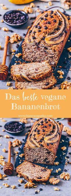 The best vegan banana Das beste vegane Bananenbrot The best vegan banana bread - Easy Bread Recipes, Banana Bread Recipes, Cake Recipes, Dessert Recipes, Vegan Recipes, Gluten Free Banana Bread, Easy Banana Bread, Cheesecake Cupcakes, Desserts Végétaliens