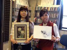 今日のアイタイムゲストは、画家の湯浅真奈美さん、星野真由さんがいらっしゃいました!花水木の会の活動についてお話しされました!