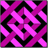 """Caned Seat Quilt Block Pattern and Instructions12"""" block"""