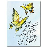 Sympathy card.  Illustration and lettering for  The Printery House