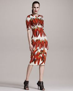Is this a dress with red chili peppers on it??? I must have it Dolce and Gabanna
