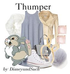 """""""Thumper"""" by disneyandsuch ❤ liked on Polyvore featuring IRO, Kate Spade, Betsey Johnson, Theory, Jacquie Aiche, Converse, Disney, disney, bambi and WhereIsMySuperSuit"""