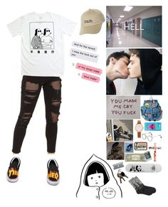 """""""""""just tell me why"""" Philip's outfit"""" by spookymiles on Polyvore featuring Topshop, Vans, Olivia Burton, adidas Originals, Enjoi, Ultimate, Market, HOT SOX, men's fashion and menswear"""