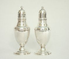 La Pierre Antique Salt and Pepper Shakers Mid-1800s by 6Wilson