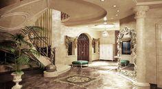 Парадная лестница в гостиной