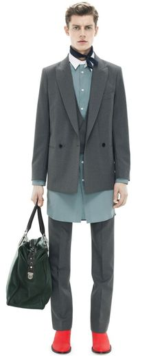 Janis Ancens for Acne Studios AW13 / SHOP MAN /  Waits Hops Grey - double breasted blazer