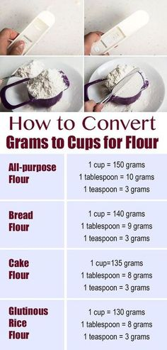 cooking tips How to Convert Grams to Cups for Flour Kitchen Cheat Sheets, Kitchen Measurements, Cooking Recipes, Healthy Recipes, Cooking Hacks, Cooking Videos, Cooking Pasta, Cooking Oil, Fish Recipes