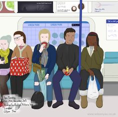 Christmas gifts, Victoria line, December 2015 – Wilson Yau: I draw, teach and make stuff Tuesday Afternoon, 15 December, London Underground, My Drawings, Line, Christmas Gifts, Victoria, Teaching, Xmas Gifts