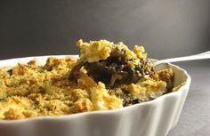 Going to try this one tomorrow! Savory Mushroom Crumble