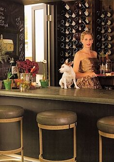 bar and wine storage ~ Celerie Kemble