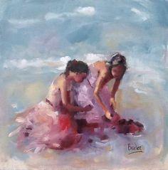 Sisters Day Out ~ Oil ~ Sharleen Boaden Sister Day, Love My Sister, Days Out, Figure Painting, Figurative, Oil On Canvas, Original Artwork, Sisters, Portraits