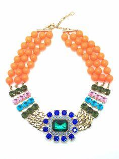 Rio - Bead Statement Necklace