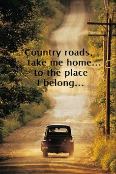take me home country roads. Dirt Road Yet. Country Charm, Country Life, Country Girls, Country Living, Country Roads, South Country, French Country, Esprit Country, Back Road